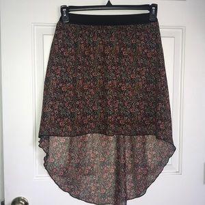 charlotte russe hi low floral skirt